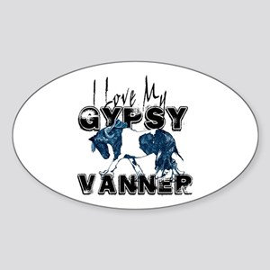 Gypsy Vanner Horse Oval Sticker