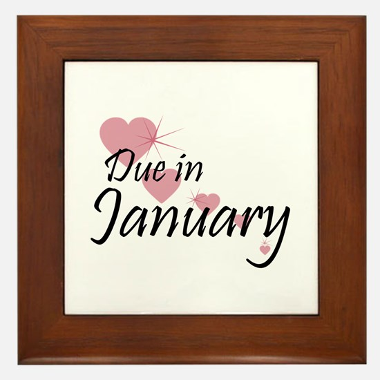 Due January Cascading Hearts Framed Tile