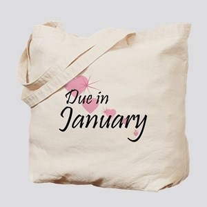 Due January Cascading Hearts Tote Bag