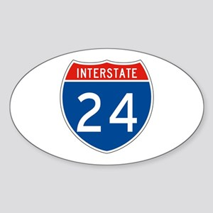 Interstate 24, USA Oval Sticker