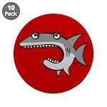 """Shark 3.5"""" Button (10 pack)"""