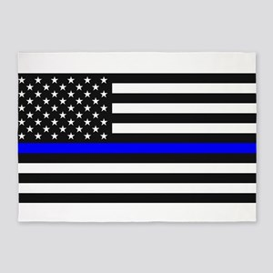 Thin Blue Line - USA United States 5'x7'Area Rug