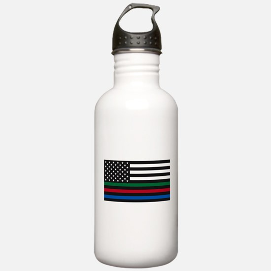 Thin Blue Line Decal - Water Bottle