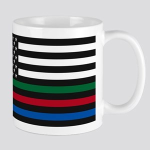 Thin Blue Line Decal - USA Flag - Red, Blue a Mugs