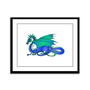 Bummed and Blue Dragon Framed Panel Print