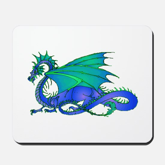 Bummed and Blue Dragon Mousepad