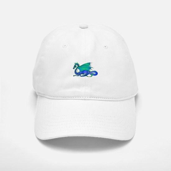 Bummed and Blue Dragon Baseball Baseball Cap