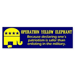 Operation Yellow Elephant Bumper Bumper Sticker