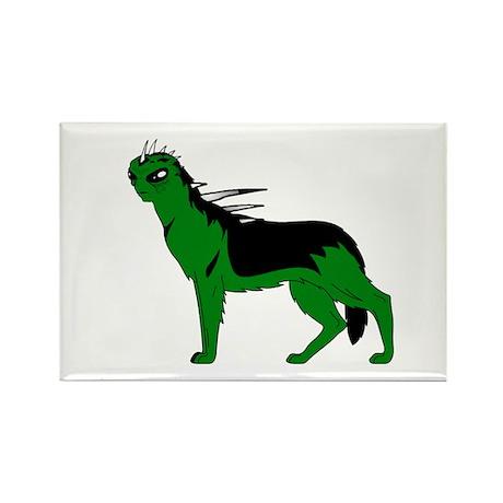 Green Dog-like Chupacabra Rectangle Magnet (10 pac