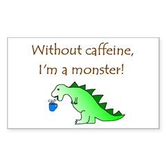 CAFFEINE MONSTER Rectangle Sticker 10 pk)