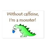 CAFFEINE MONSTER Postcards (Package of 8)