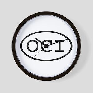 OCI Oval Wall Clock