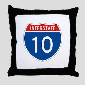 Interstate 10, USA Throw Pillow
