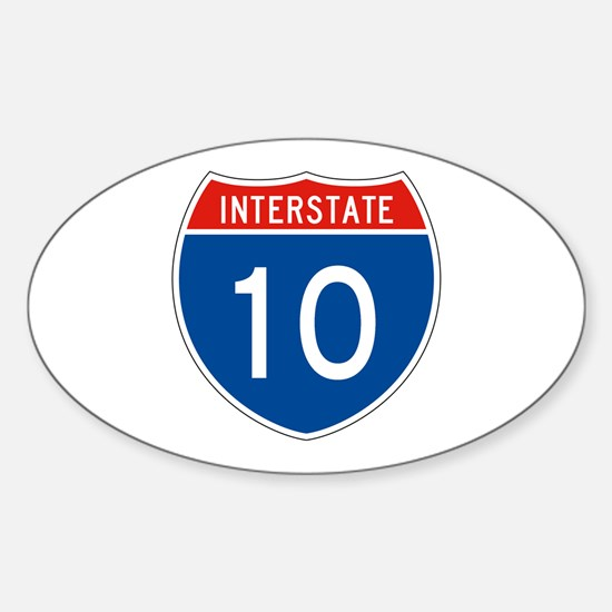Interstate 10, USA Oval Decal