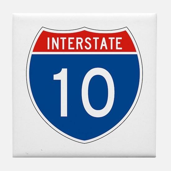 Interstate 10, USA Tile Coaster