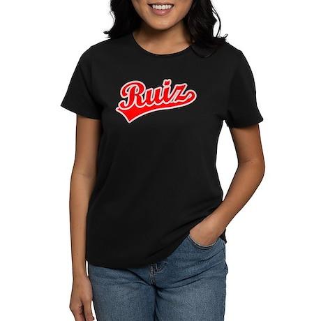 Retro Ruiz (Red) Women's Dark T-Shirt