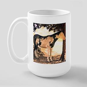 Horse Pinto Chiaroscuro Large Mug