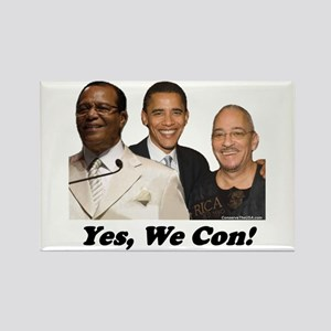 """""""Yes, We Con"""" Rectangle Magnet"""