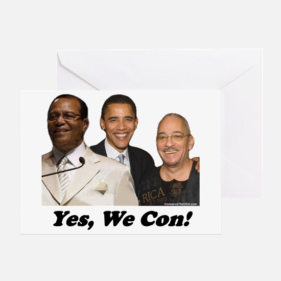 """""""Yes, We Con"""" Greeting Card"""