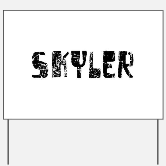 Skyler Faded (Black) Yard Sign