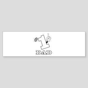 #1 - DAD Bumper Sticker