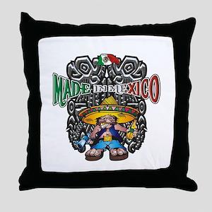 Made in Mexico mariachi Throw Pillow