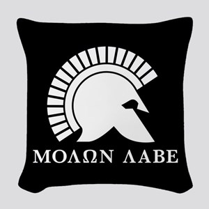 Molon Labe Woven Throw Pillow