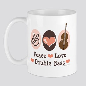 Peace Love Double Bass Mug