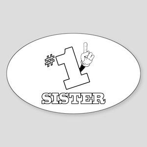#1 - SISTER Oval Sticker