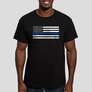 Thin Blue Line Decal - USA Flag - Red, Blu T-Shirt