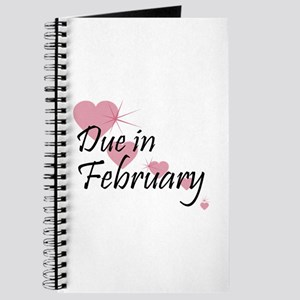 Due February Cascading Hearts Journal