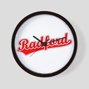 Retro Radford (Red) Wall Clock