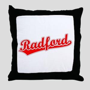 Retro Radford (Red) Throw Pillow