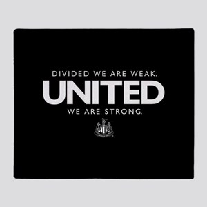 Newcastle United We Are Strong Throw Blanket