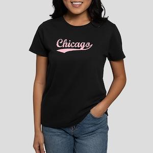 Vintage Chicago (Pink) Women's Dark T-Shirt