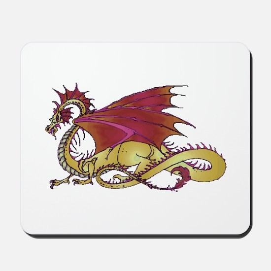 Fierce and Gold Dragon Mousepad