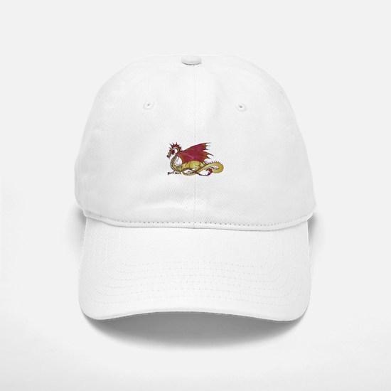 Fierce and Gold Dragon Baseball Baseball Cap