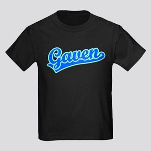 Retro Gaven (Blue) Kids Dark T-Shirt