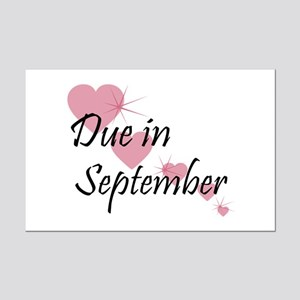 Due In September Cascading Hearts Mini Poster Prin