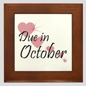 Due In October Cascading Hearts Framed Tile