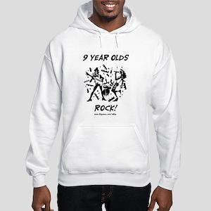 9 Year Olds Rock Hooded Sweatshirt