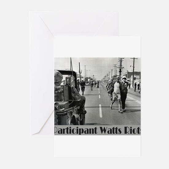 Watts Riots Greeting Cards (Pk of 10)