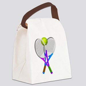Tennis Rackets and Ball Canvas Lunch Bag