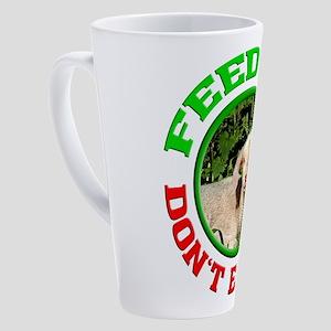 feed me - animal rights - vegan - 17 oz Latte Mug