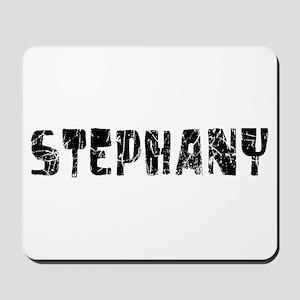 Stephany Faded (Black) Mousepad