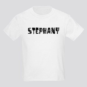 Stephany Faded (Black) Kids Light T-Shirt