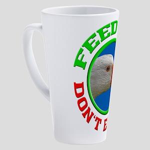 goose portrait,animal rights,vegan 17 oz Latte Mug