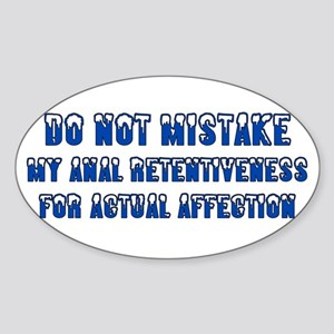 Affection Not Oval Sticker