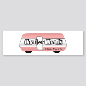 Double Wide Diva - Trailer Bumper Sticker