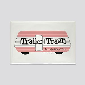 Double Wide Diva - Trailer Rectangle Magnet